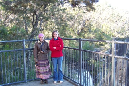 Helen and Sina at Fitzroy Falls