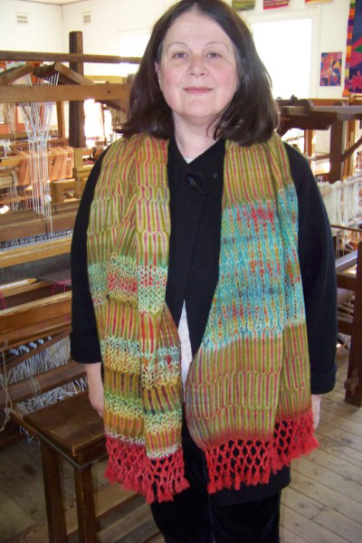 Anne wearing her beautiful scarf