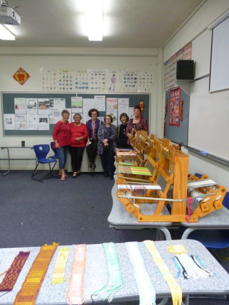 The weaving class of 2013.