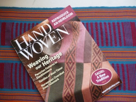 Handwoven with the runner that appears in the issue.