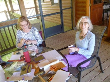 Making books with Judith and Tricia.