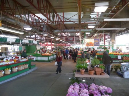 Early morning in the market