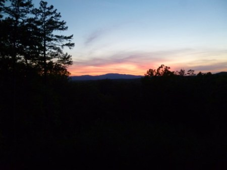 Sunset across to the Appalachian Mts