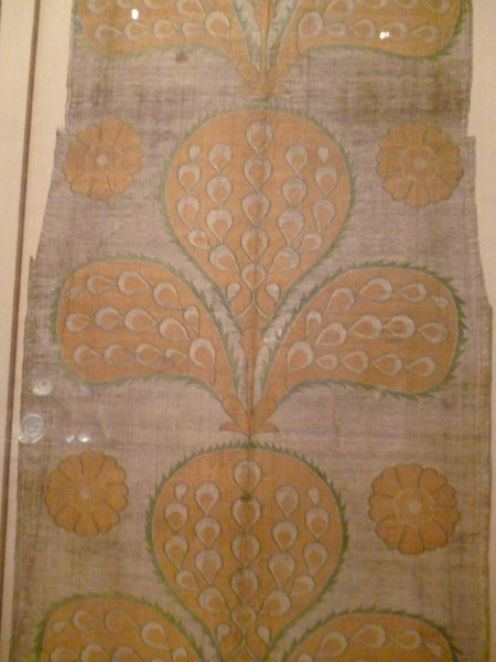 Turkey mid C16. silk, metallic wrapped thread, taquete.