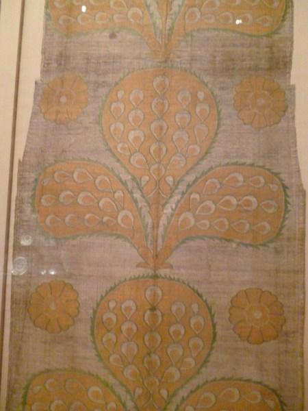Turkey mid C16. silk, metallic wrapped thread, taquete.