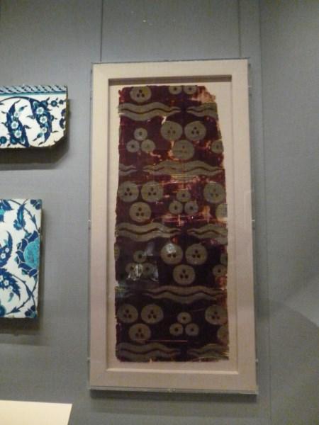 Velvet, silk and metal wrapped thread Turkey C16