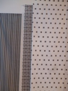 12 Take Five printed fabric lengths