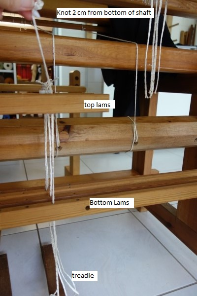 December 2017: a loom and a convenient treadle tie up method for